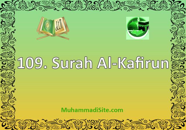 109 Surah Al-Kafirun