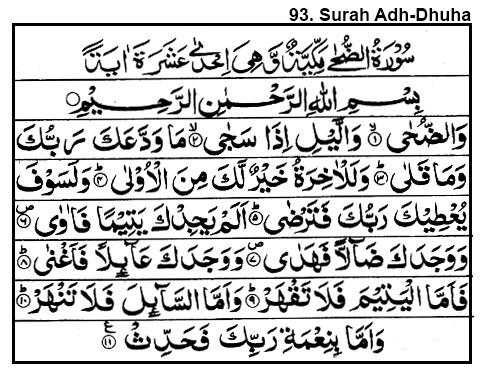 93 Surah Adh-Dhuha
