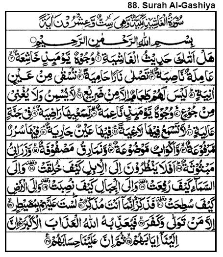 Surah Al-Gashiya