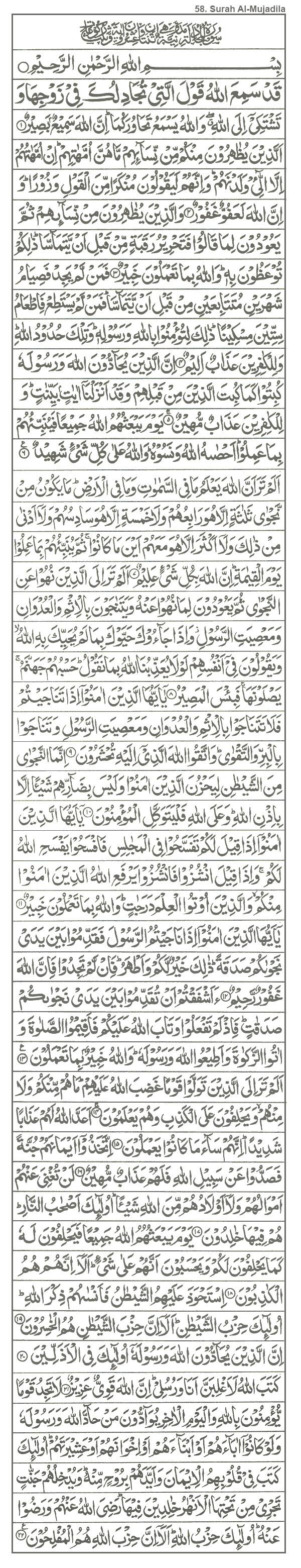58. Surah Al-Mujadila