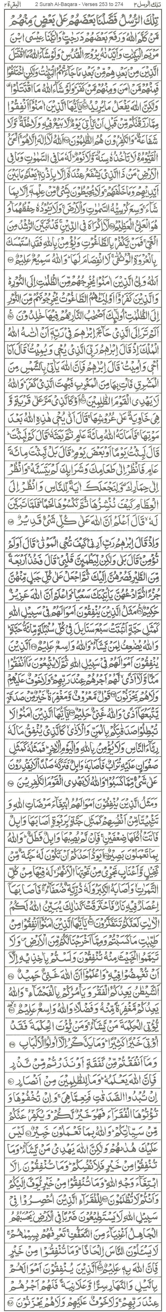 2 Surah Al-Baqara - Verses 253 to 274