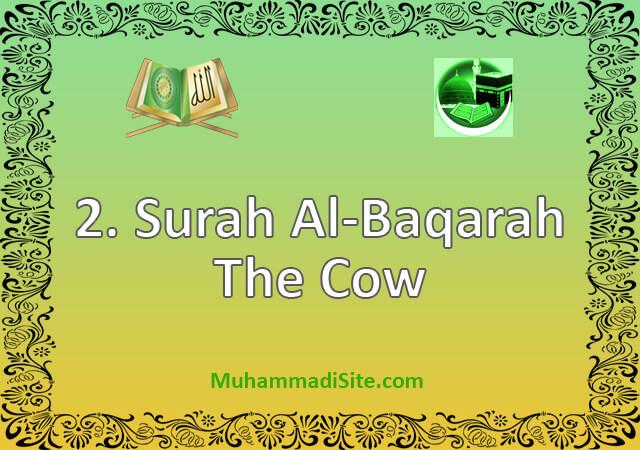2 Surah Al-Baqarah – The Cow
