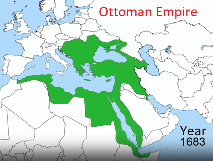Ottoman Empire Map 1683